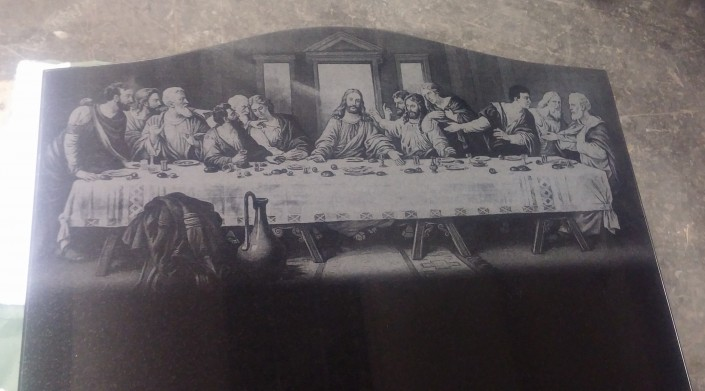 Full Last Supper Laser Etching