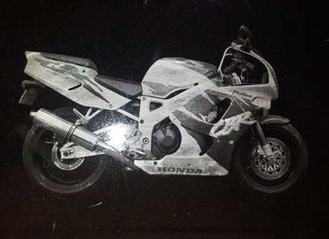 Motorbike Laser Etching