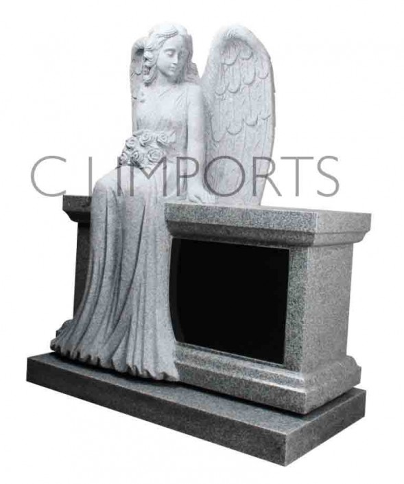 Angel Bench Memorial Headstone