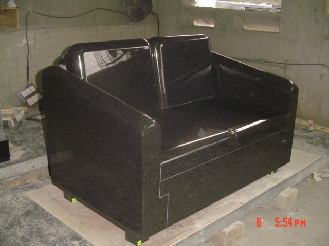Black Granite Sofa Memorial
