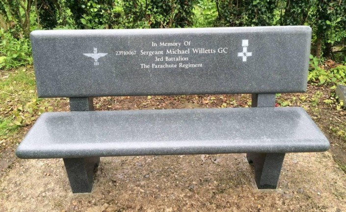 Honed Britz Grey Granite Bench Memorial