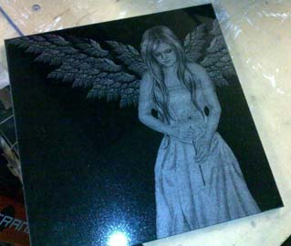 Angel Laser Etching