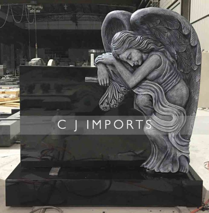 Hand Carved Angel Memorial