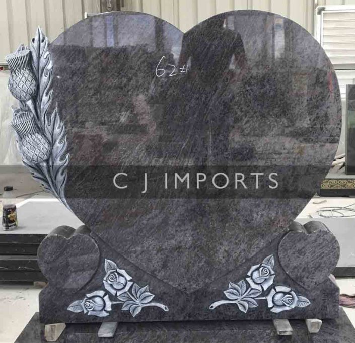 Thistle Heart Memorial Headstone