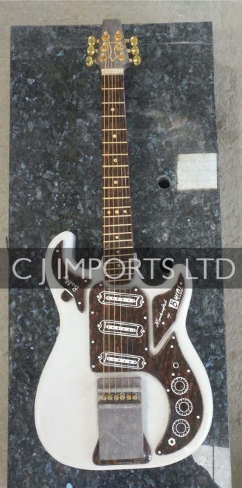 White Granite Guitar