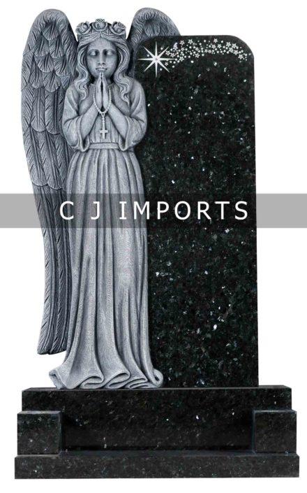 Angel Headstone Memorial Emerald Pearl