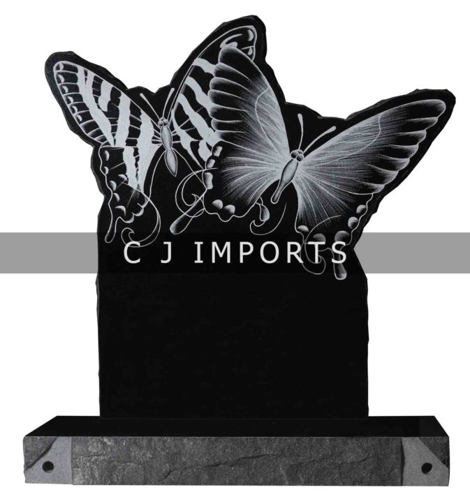 Butterfly Headstone Memorial Etching