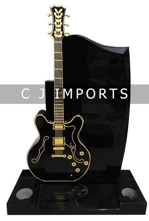 Guitar Headstone Memorial 2