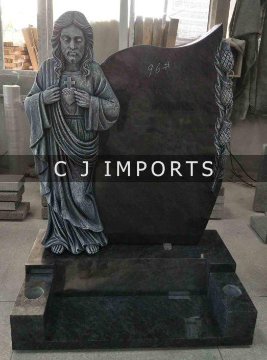 Sacred Heart Jesus Thistle Headstone Memorial