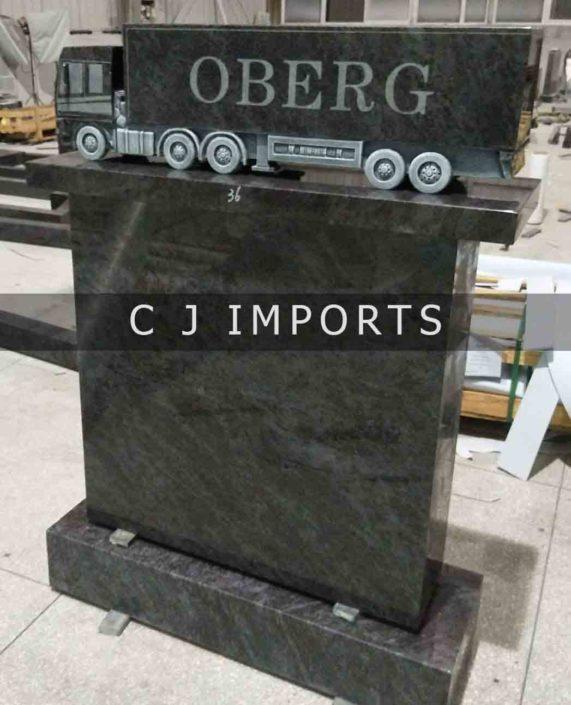 Truck Memorial Headstone Blue