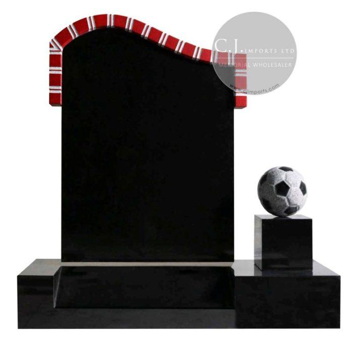 Football Memorial Headstone Memorial