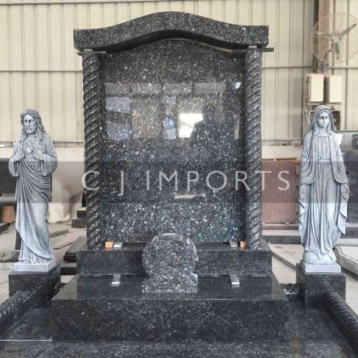 Temple Mary Jesus Memorial Headstone Statue